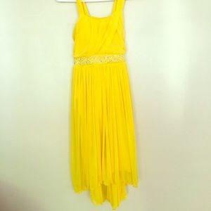 Other - Emily West girls 16 yellow jeweled dress!!